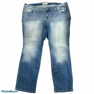 Torrid Straight Leg Stretch Denim Jeans High Rise